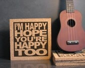 DAVID BOWIE - Ashes To Ashes Lyrics - I'm Happy Hope You're Happy Too - Quote Wall Art / Hot Pad Trivet - Dorm Room / Office Decor