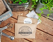 Vintage Seed Packet Favors - Give, Love, Grow, Bloom - Personalized Bag with Seeds - Seed Favor - 30 Packets or more