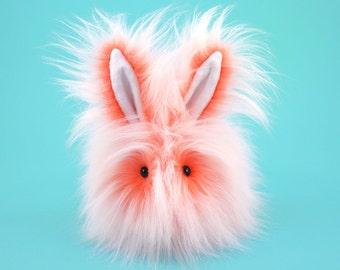Stuffed Bunny Stuffed Animal Cute Plush Toy Rabbit Kawaii Plushie Orange Fizz the Snuggly Cuddly Faux Fur Toy Bunny Medium  5x8 Inches