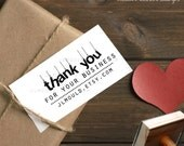 0387 JLMould Modern Thank you Business Cards Custom Rubber Stamp for your Small Business Etsy or Ebay We can add your name and website
