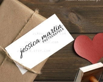 0385 JLMould Custom Business Card Logo with your name Photographer Rubber Stamp