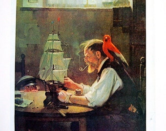 Large Norman Rockwell Print - The Literary Digest Cover - December 1922 - 1970 Vintage Book Page - 17 x 12