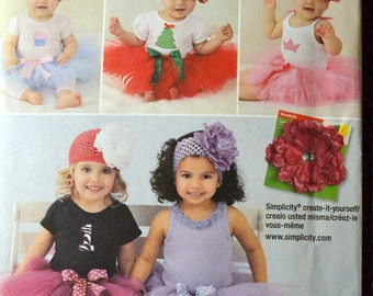 Costume Sewing Pattern Simplicity 1956 Girls' Tutus  Size 7-24 LBS Uncut Complete