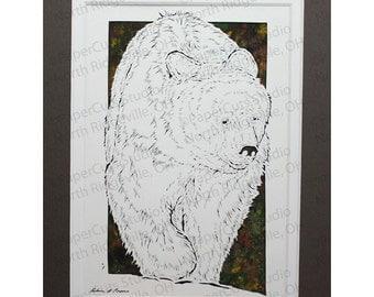 Black Bear Papercutting, Handcut Original *FINAL EDITION*
