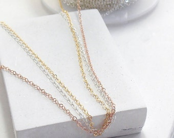 Chain | Add-on Chain for RubyLena, Make your chain as long as you want | Silver, Gold, Rose Gold, Rpsegold, Delicate Chain, Long Necklace