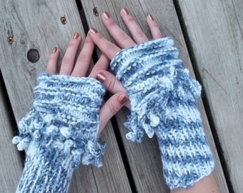 Knitting Pattern, Fingerless Mitts, Wrist Warmers, INSTANT DOWNLOAD