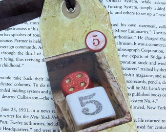 Mixed Media Collage  Bookmark PSS 2557