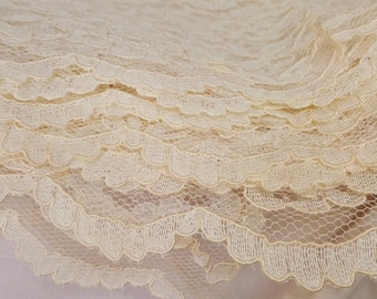 Alencon Lace Embroidered Lace Fabric Wedding Lace Needle Lace High Quality Lace White Lace Bridal Lace Ivory Lace Couture Lace Floral Lace
