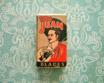 Vintage Unused Box of Don Juan Razor Blades 1920's