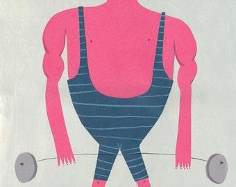 Very strong man     Original Illustration