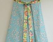 S/M Festive Women's A Line Skirt, Wrap Skirt, Knee Length Skirt, Cotton Skirt, High Waisted Skirt