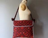 vintage kilim purse / tribal wool carpet bag