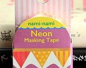 Japanese Kawaii Neon NamiNami Die-cut Masking Tape - Flags (TM00446)