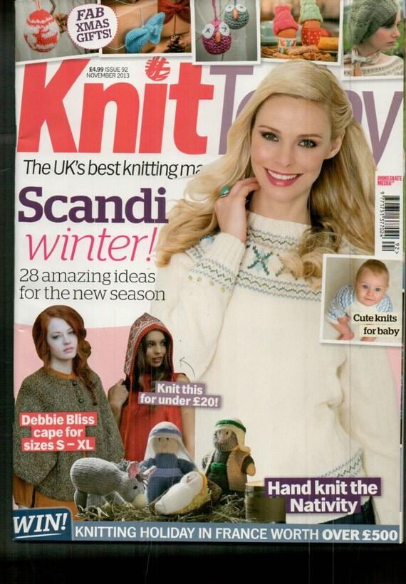 Knit Today Knitting Magazine Issue 92 November 2013