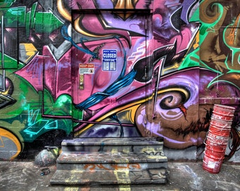 Collection of 5 Fine Art Photographs: New York Street Art, Manhattan/Brooklyn/Queens