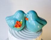 Robin Egg Blue Wedding Cake Topper