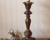 Vintage French Brass Table Lamp