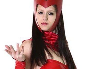 Scarlet Witch cosplay, Women Adult Halloween costume, Leather Headdress, Spellbound - Made to Order