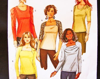 Womens Tops Pattern Misses size 14 16 18 20 UNCUT 6 Style Blouses Simple to Sew Butterick Pattern