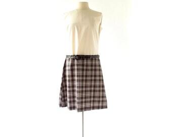 1960s Mod Dress / Le Chouchou / Plaid Dress / 60s Dress / Large L
