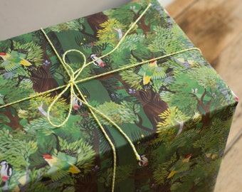 Woodpecker Forest Wrapping Paper - 100% Recycled