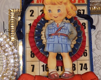 Military Soldier Girl, Welcome Home Bingo card  by STACY MARIE