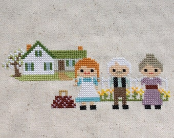 Green Gables Cross Stitch: Anne of Green Gables inspired-PDF Digital Download