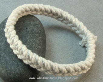 herringbone weave rope bracelet white cotton knotted sailor bracelet rope jewelry soft bangle stackable cord bracelet 3296
