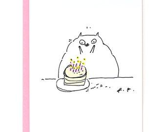 Funny Birthday Card - Wee Hands - Cat Birthday Card