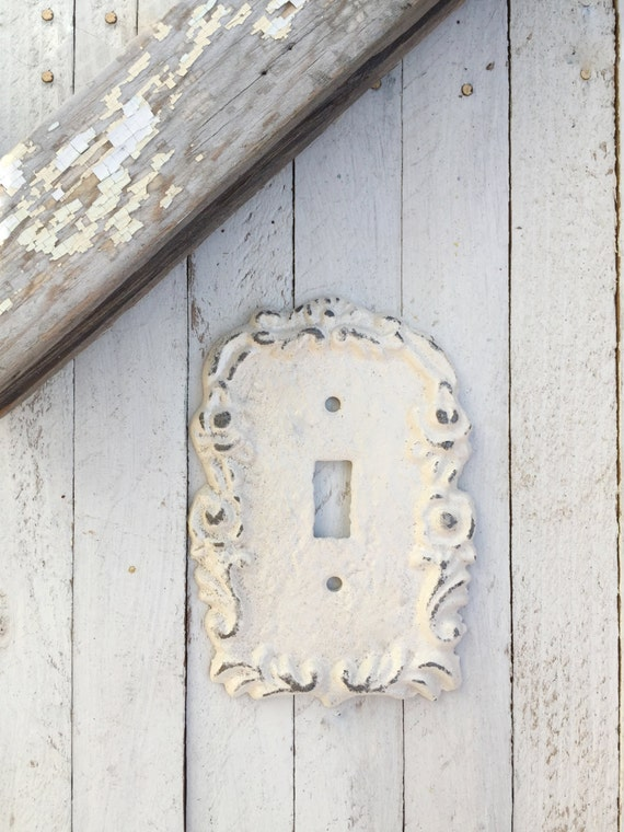 Light Switch Cover, Cast Iron Decor, Victorian Home, Light Fixture, Romantic Home, STYLE 107, Pure White