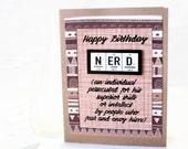 Birthday Science Nerd Card