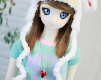Fairy Kei Lamb Hat for SD BJD, 1/3 Doll, Sheep Hat