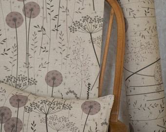 Paper Meadow fabric in blush - by the metre