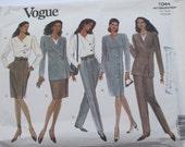 Business Wardrobe Pattern Vogue 1044 Misses Jacket,Dress,Top,Skirt and Pants Pattern Misses Size 14,16,18, UNCUT