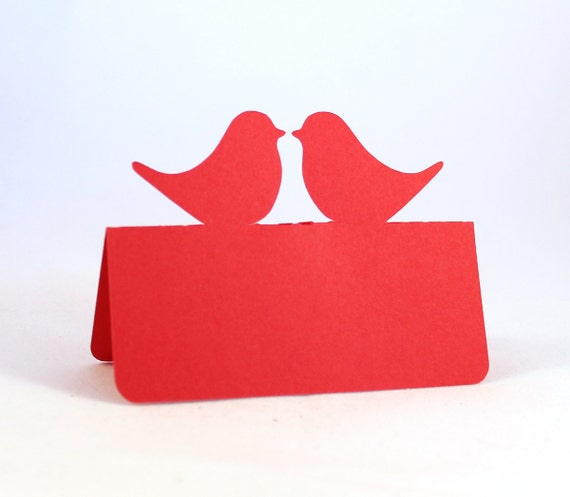 Love Birds Place Cards Set of 50 Wedding