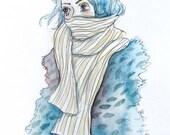Winter Scarf - original art