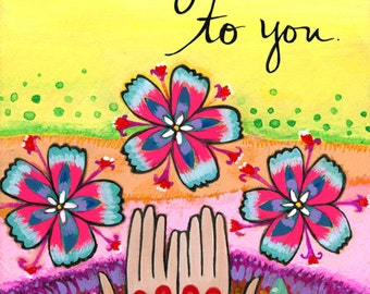 Greeting card : Sending Love #116-C