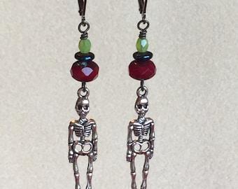 Colorful Beaded Skeleton earrings