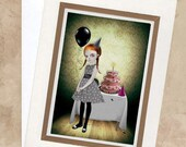 Greeting Card  - Goth Girl Birthday Party - I'ts My Party & I'll Cry If I Want To