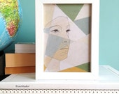 Geometrical Portrait - Fine Art Print - 5 x 7 - Limited Edition Giclee