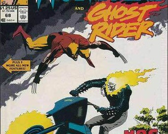 Issue 68 WOLVERINE and GHOST RIDER Marvel Comics Presents Series Comic Book