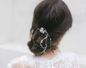 Bridal Headpiece, Wedding Hair Piece, Bridal Hair Chain, Bun Hair Wrap , Opal Headpiece, Bridal Hair Vine