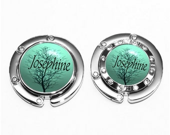 Personalized Winter Tree Against a Turquoise Sky Purse Hanger Bag Hook (A160)