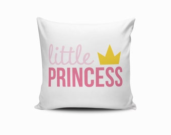 Princess/Prince Pillow Cover, Nursery Princess Pillow, Throw Pillow Cover, Princess Throw Pillow, Princess Nursery Pillow, Prince Pillow