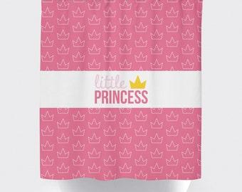 Princess/Prince Crown Shower Curtain, Custom Shower Curtain, Crown Shower Curtain, Princess Shower Curtain, Prince Curtain, Pick Your Colors