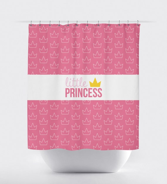 Princess Prince Crown Shower Curtain Custom Shower Curtain