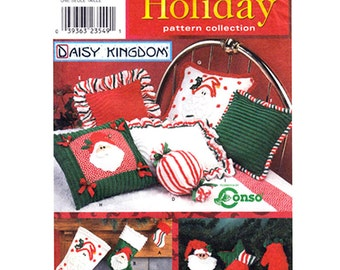 Holiday Decor Pattern Simplicity 9002 Daisy Kingdom Pillows Christmas Stockings Ornaments