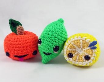 Amigurumi Citrus Trio