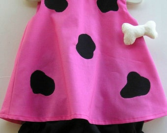 Baby and Toddler Pink Pebbles Flintstone Toddler Costume