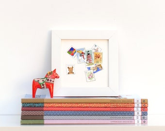 Watercolor Postage Stamp Collection Mini Print Perforated Greeting Card